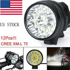 40000 Lm 12x CREE T6 LED 3 Modes Bicycle Lamp Bike Light Headlight Cycling Torch