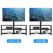 """Tempered Glass TV Stand Cantilever w/ Swivel Wall Bracket 32-55"""" Plasma LCD LED"""