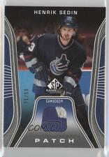 2006 SP Game Used Edition Authentic Fabrics Patch AF-HS Henrik Sedin Hockey Card