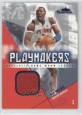 2004-05 Fleer Showcase Playmakers Jersey Blue #PM-BW Ben Wallace Detroit Pistons