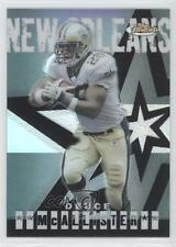 2004 Topps Finest Refractor 45 Deuce McAllister New Orleans Saints Football Card