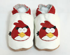 White Bird Soft Sole Leather Baby Shoes New 6 - 18 Months Brand New