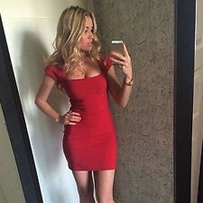 Hot Womens Bandage Bodycorn Short Dress Summer Cocktail Package Hip Party Skirt