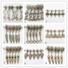 12Pcs Carved Tibet silver Bracelet Necklace Accessories Pendant bead F-07