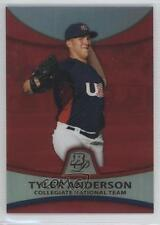 2010 Bowman Platinum Prospects Chrome Red Refractor #PP29 Tyler Anderson Card
