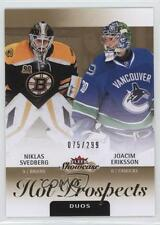 2013 Fleer Showcase #133 Hot Prospects Duos Niklas Svedberg Joacim Eriksson Card
