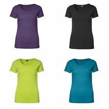 ID Womens/Ladies Stretch Casual Plain Short Sleeve T-Shirt/Tee/Top