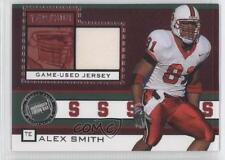 2005 Press Pass Game-Used Jersey Silver #JC/AS Alex Smith Stanford Cardinal Card