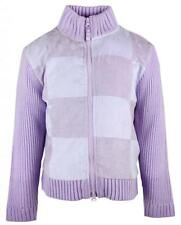 Girls Chainstore Patchwork Winter Knit Zipper Cardigan Jacket Top 3 to 10 Years