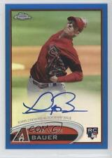 2012 Topps Chrome Rookie Autograph Blue Refractor #TB Trevor Bauer Auto Card