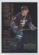 1996 Fleer Metal Lethal Weapon #9 Paul Kariya Anaheim Ducks (Mighty of Anaheim)