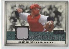 2008 SP Legendary Cuts Memorabilia Green #LM-CF Carlton Fisk Boston Red Sox Card