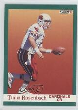 1991 Fleer #347 Timm Rosenbach Arizona Cardinals Football Card