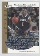 2004-05 SAGE Hit Authentic Autograph Gold #A16 Kirk Snyder Auto Basketball Card
