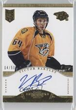 2013-14 Panini Dominion Gold #125 Victor Bartley Nashville Predators Auto Card
