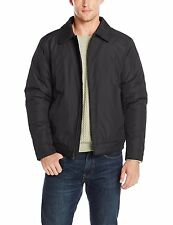 Haggar Mens Big Tall Bomber Jacket cannon black solid polyester size 2XLT NEW