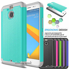 Hybrid Defender Rugged Silicone Armor Hard Case Cover for HTC Bolt /HTC 10 Evo