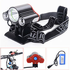 15000LM 3X T6 LED Bike Bicycle Cycling Front Light Lamp Headlamp+Battery+Charger