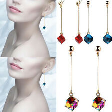 Fashion Hot Multicolor Long Earrings Big Drop Pop Stones Charm Crystal Jewelry