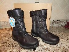 NEW BOYS TIMBERLAND Mallard Tall Black Lace Up  Fully Lined BOOTS Style #33907