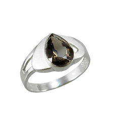 Schmuck-Michel Ring Silver 925 Smoky quartz Drop 1 Size 50 - 65 to choose (2390)