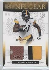 2010 Playoff National Treasures #17 Jonathan Dwyer Pittsburgh Steelers Auto Card