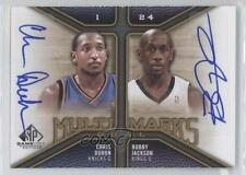2009-10 SP Game Used #MD-JD Chris Duhon Bobby Jackson New York Knicks Auto Card