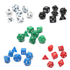 7PCS Dice Die D4~D20 for Games Dungeons Dragons RPG Dungeons and Dragons D&D FK