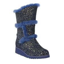 Gold Blue Sparkle Tall UGG Boot Made in Australia JUMBUCK UGG Boots size 7 Lady