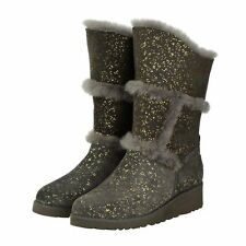 Charcoal Gold Sparkle Tall UGG Boot Made in Australia JUMBUCK UGG Boots 8 Lady