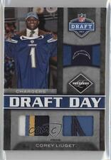 2011 Panini Limited Draft Day Materials Combos Prime 10 Corey Liuget Rookie Card