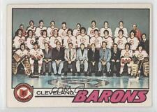 1977-78 O-Pee-Chee #75 Cleveland Barons Team Hockey Card