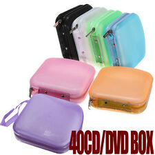 Portable 40 Disc CD DVD Storage  Zipper Bag Case Hard Box  Wallet Album Holder!