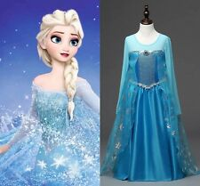 Kids clothes Girls Disney Frozen dress costume Elsa Princess Anna party dress !