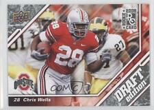 2009 Upper Deck Draft Edition Brown #4 Chris Wells Ohio State Buckeyes Card