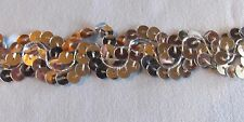 """7/8"""" Wide Silver Scroll Design Sequin Trim By The Yard"""
