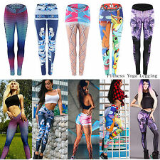 Womens Ladies Workout Clothes Sports Gym Yoga Training Stretch Running Leggings