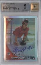 2010 Topps Chrome Rookie Autographs Refractor 172 Bryan Anderson BGS 9 Auto Card