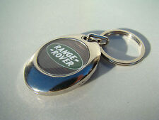 RANGE ROVER METAL KEYRING  WITH SHOPPING TROLLEY TOKEN SIMPLY SLIDE OPEN