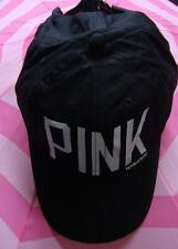 Victoria's Secret PINK Black Hat With White Letters NEW Limited Edition ~ RARE ~