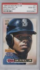 1994 Topps Stadium Club Dugout Dirt 7 Ken Griffey Jr PSA 10 Seattle Mariners Jr.