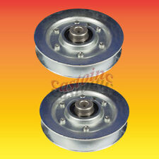 (2) Steel V-Idler Pulleys Replace MTD 756-0226, 756-0293, 756-0293A, 756-1208