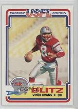 1984 Topps USFL #17 Vince Evans Chicago Blitz (USFL) Football Card