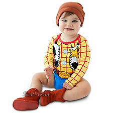 Toy Story Cowboy Woody Costume Bodysuit & Hat for Baby Disney Store 2 Years NEW