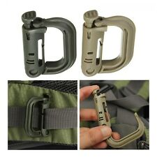 Locking Shackle Snap Clip Carabiner D-Ring KeyRing
