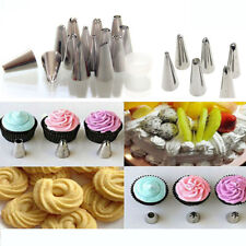 Cake Decorating Piping Icing Bag Stainless Steel Nozzles Coupler Pastry Tips