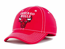 NWT NBA Chicago Bulls Adidas Flex Fit Red Logo Hat Cap
