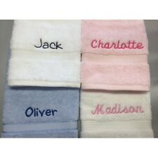 Personalised 3 Piece Embroidered Towel Set - Baby Kids Bath & Hand Towel Gift