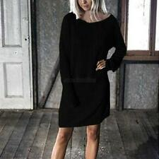 Sexy Long Sleeve Dress Women Loose Blouse Casual Short Mini Dress Clubwear  E40