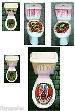 Horror Toilet Sticker Halloween Decorations Scary funHouse Party Seat Cover